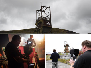 Filming the new promo for Public Service Broadcasting in the Welsh Valleys