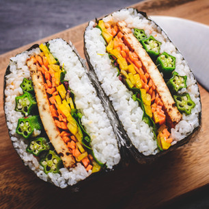 Onigirazu with Okra & Smoked Tofu