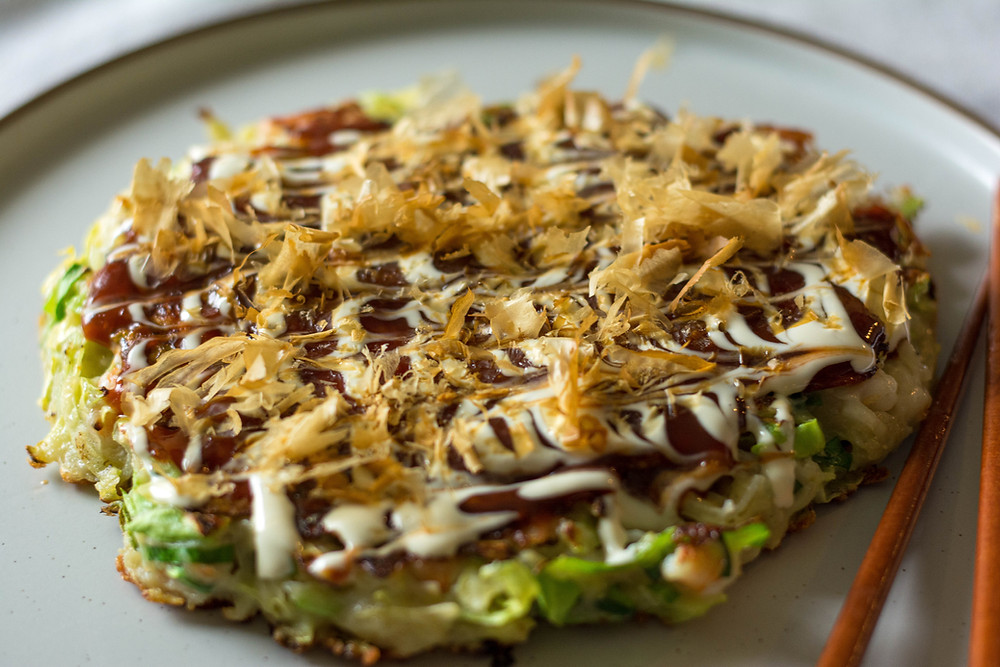 Okonomiyaki with Prawns & Bacon Recipe