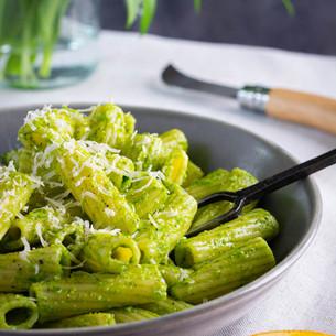 Wild Garlic Pesto & Orange Rigatoni