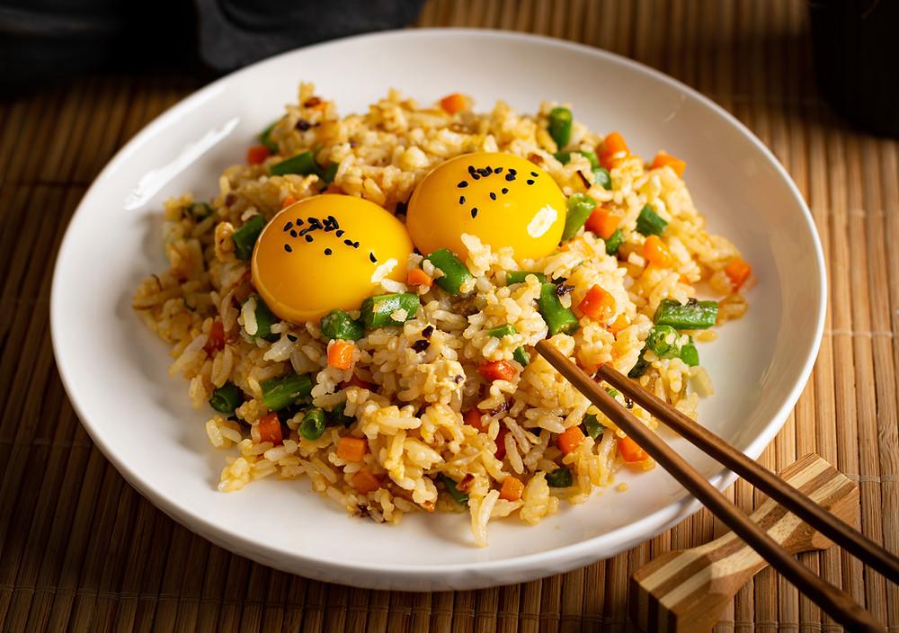 Tamago Kake Gohan on the plate