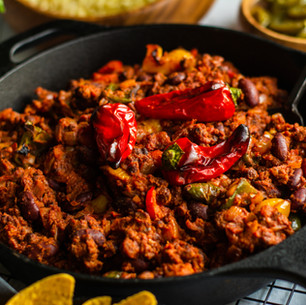 Chilli Non-Carne with Quorn & Roasted Peppers