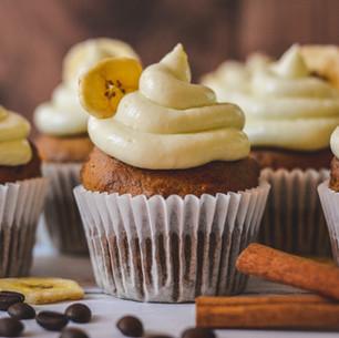 Banana Coffee Cupcakes & Cream Cheese Frosting