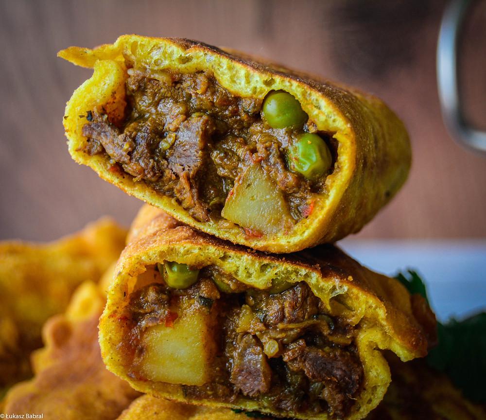 Trinidad Aloo Beef Pie