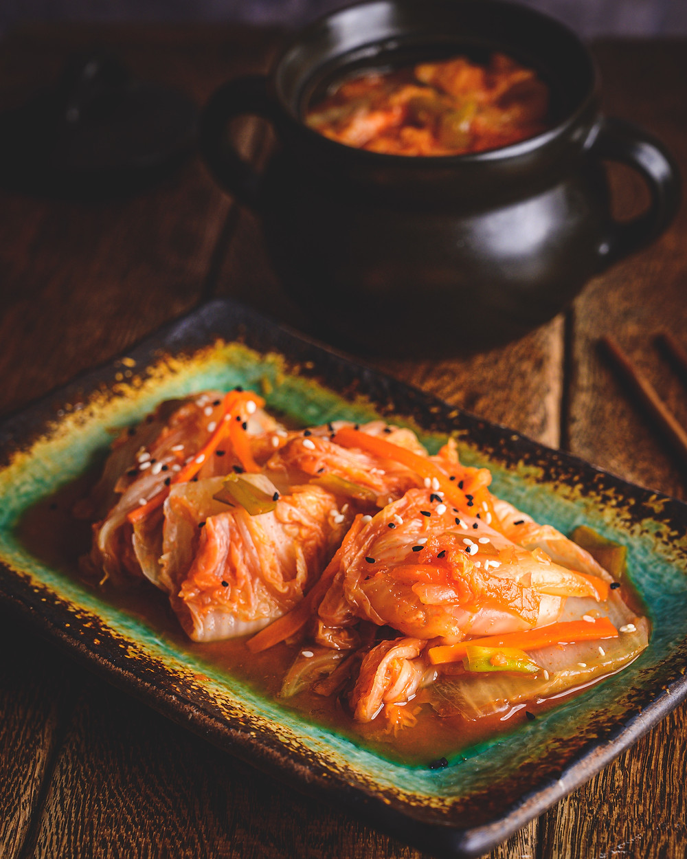 Kimchi on the plate