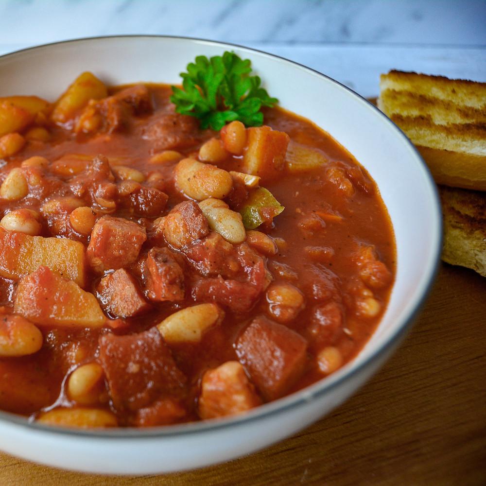 Breton Beans (fasolka po bretońsku) in the bowl