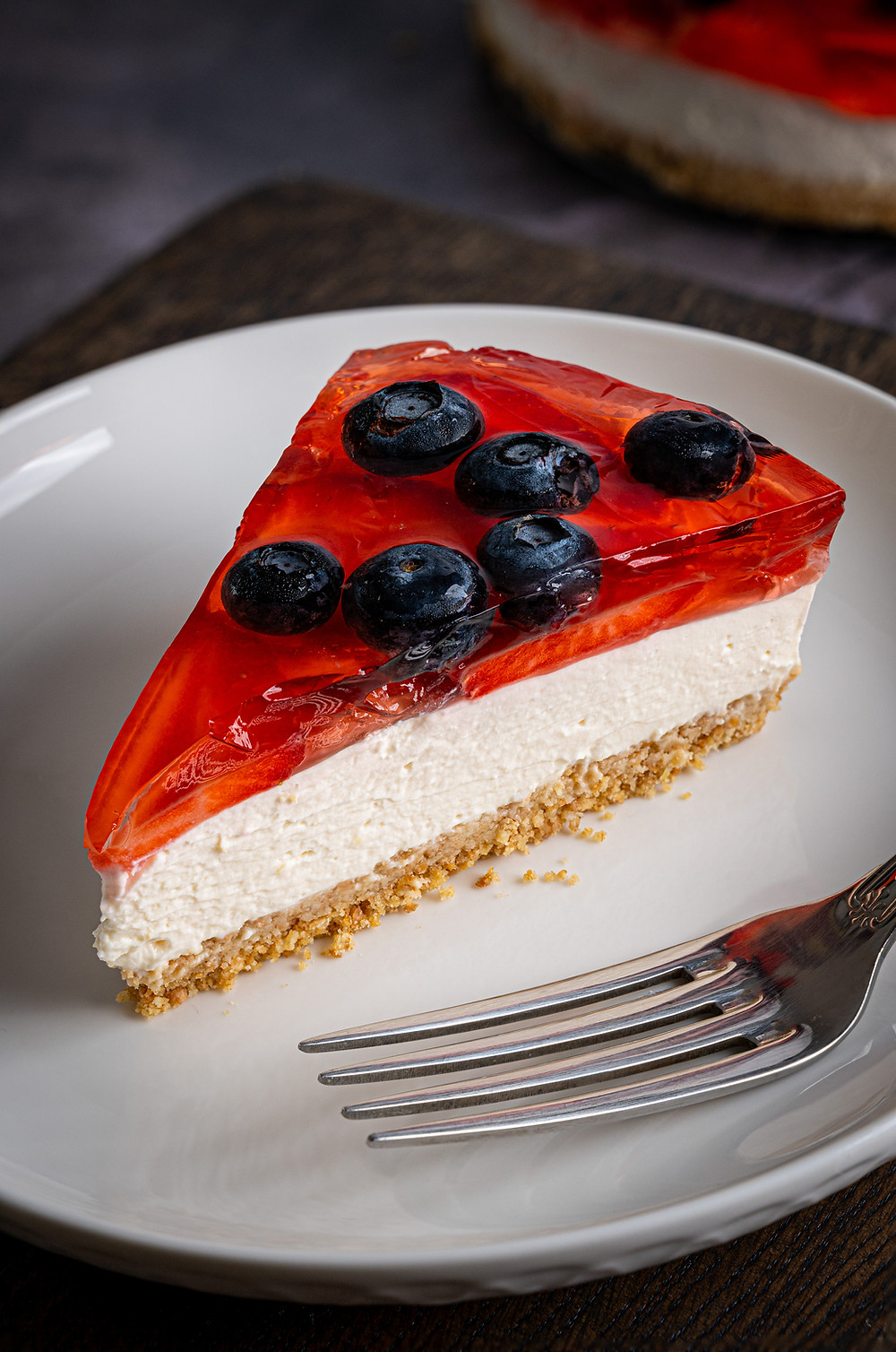 Jelly Cheesecake food photography