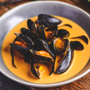 Mussels in Thai Red Curry