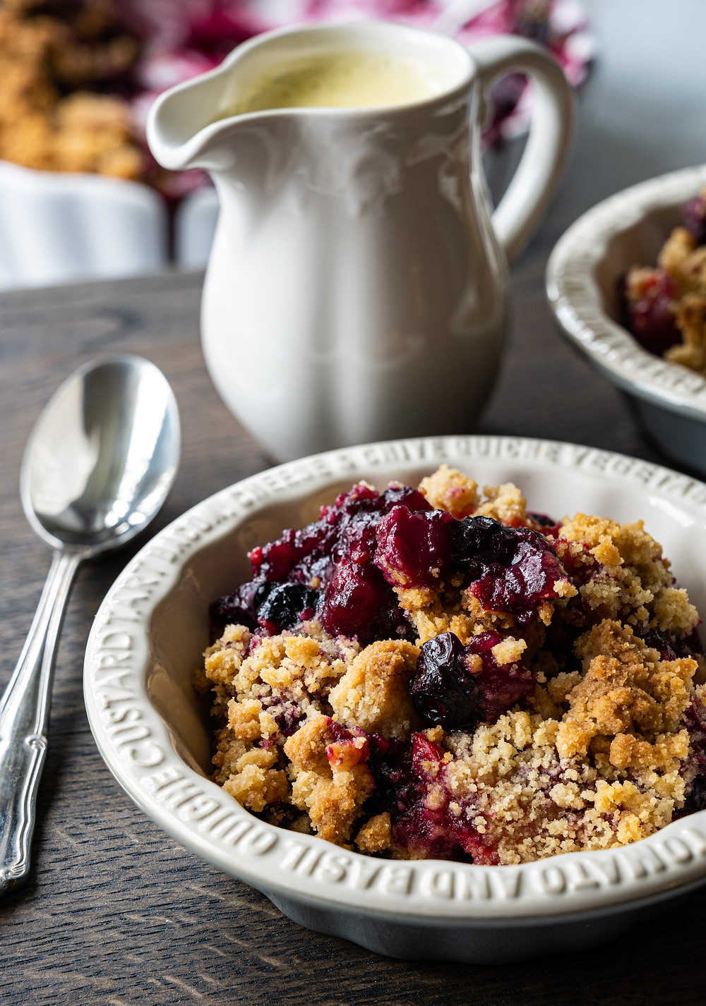 Classic Berry Crumble with Custard