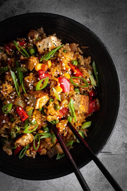 Fried Rice with Smoked Tofu