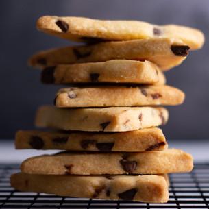 Chocolate Shortbread Cookie Shards