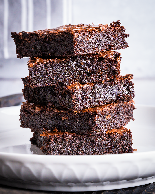 Chocolate Brownie on the plate