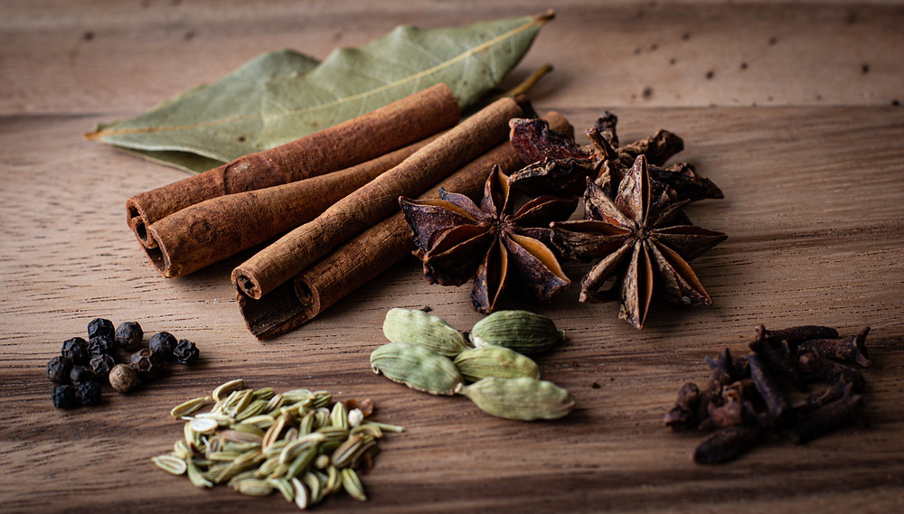 Chinese spices on the table