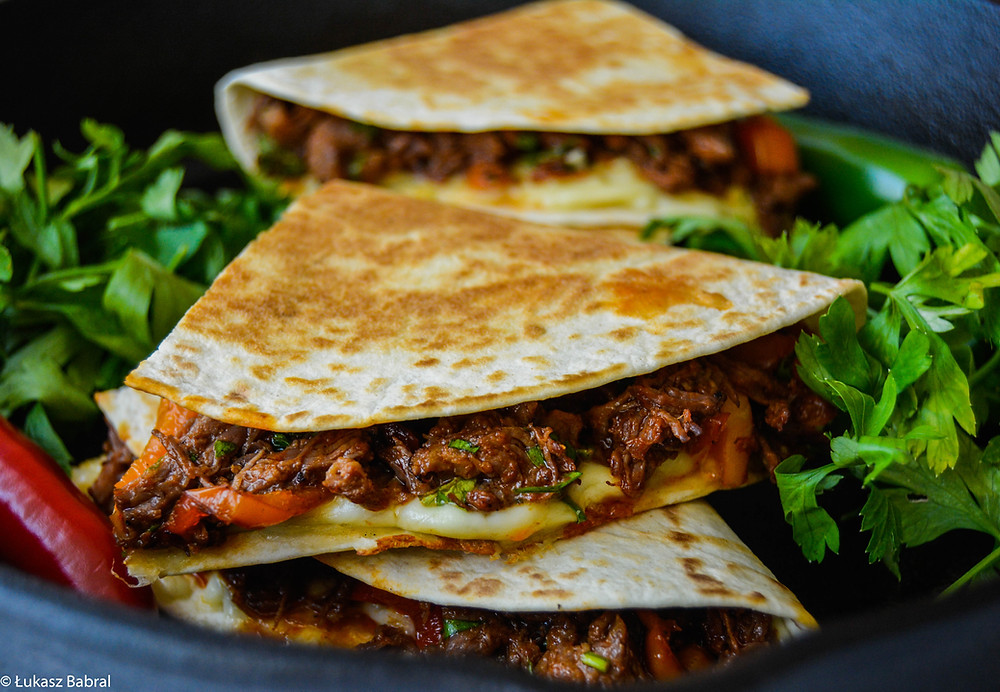Mexican Slow Cooked Chilli Beef Quesadilla Recipe
