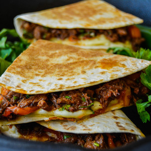 Mexican Slow Cooked Chilli Beef Quesadilla