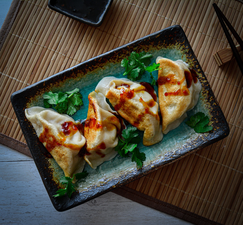 Nappa Cabbage & Pork Gyoza with Chilli Soy Sauce