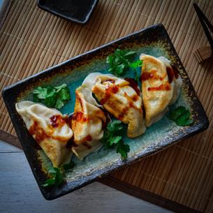Nappa Cabbage & Pork Gyoza with Chilli Soy Sauce