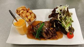Plat bistronomique de l'Aromatic - Resto Côtes d'Armor