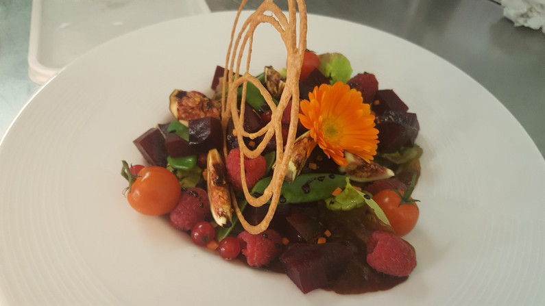 Plat bistronomique du Restaurant l'Aromatic