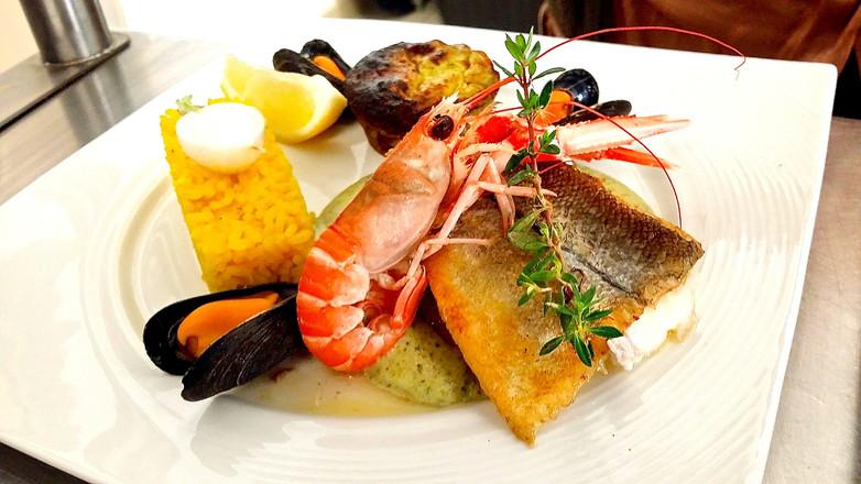 Plat du restaurant semi gastronomique l'Aromatic en Bretagne