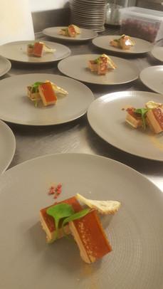 Menu semi gastronomique du restaurant l'Aromatic proche de Saint-Brieuc