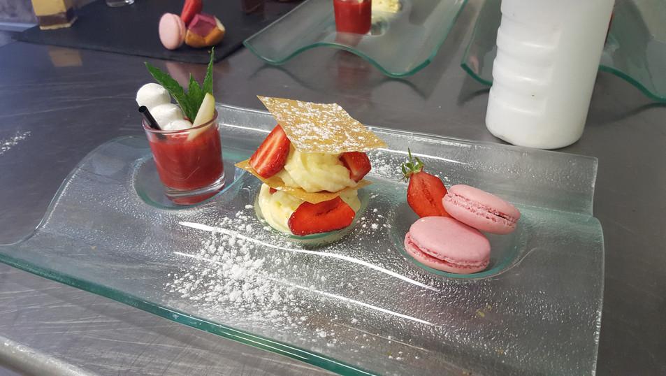 Dessert bistronomique du maître restaurateur Christophe Sagory
