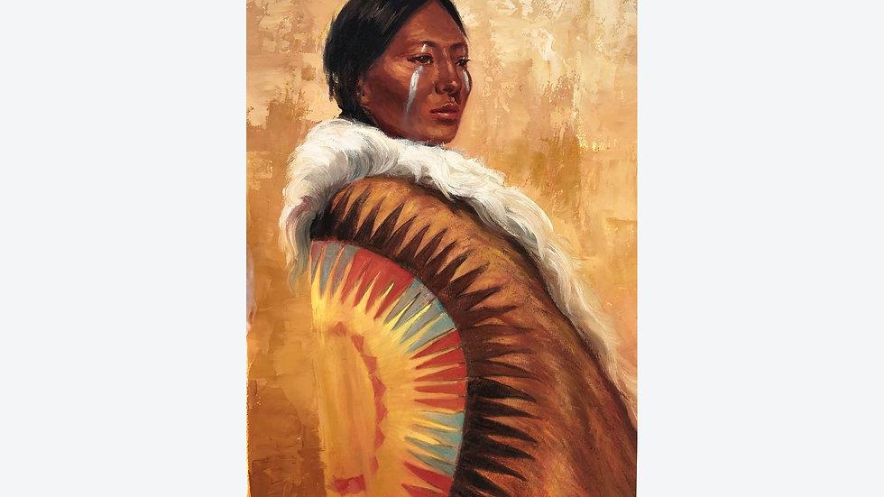White Buffalo (woman)Lakota original painting