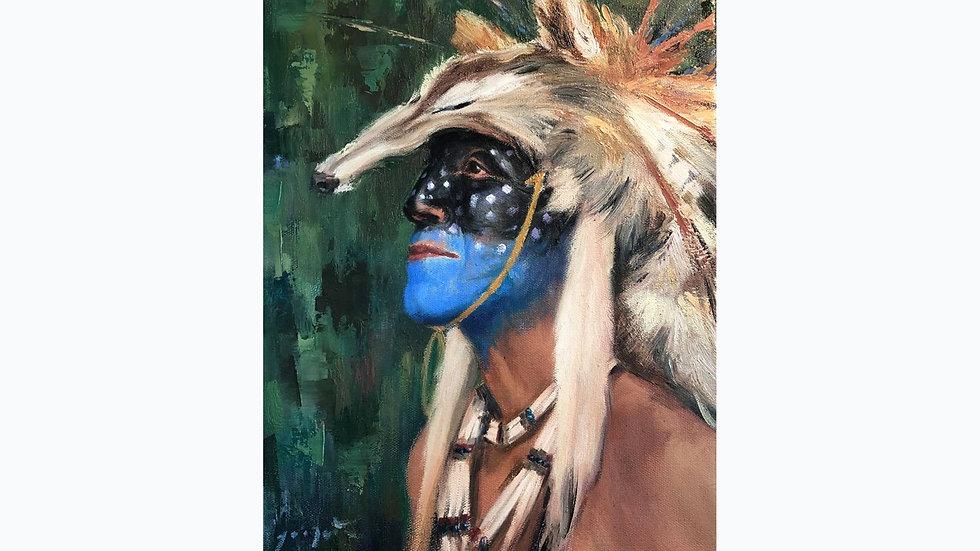 MICA  (coyote) Lakota original painting