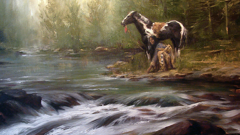 The Scout  Original Oil Painting SOLD