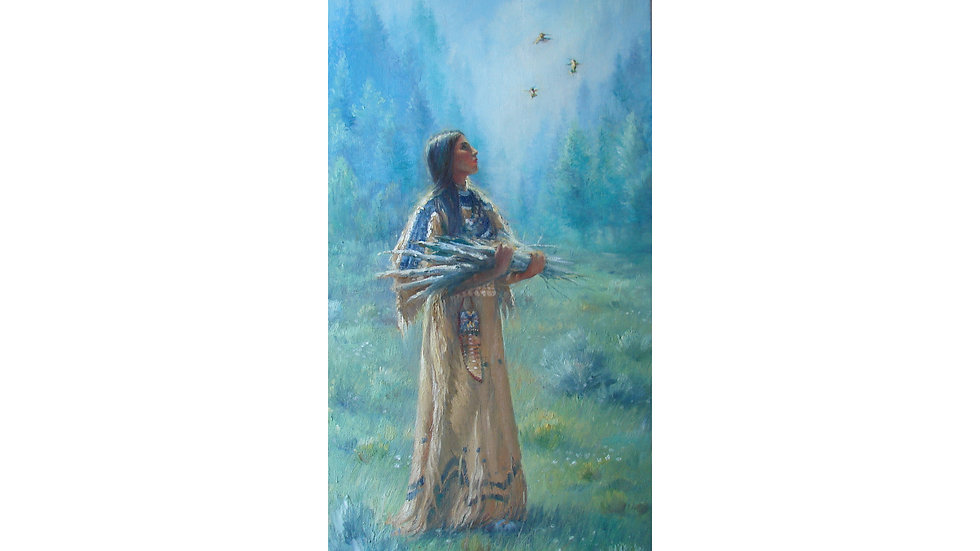 """Spirits in the Sky  limited  11x22 """"edition fine art print"""