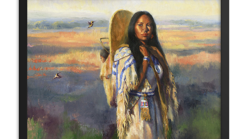 Bird Woman  Sacajawea Framed poster
