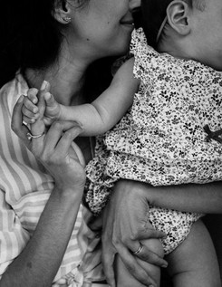 Mother and baby girl black and white.jpg
