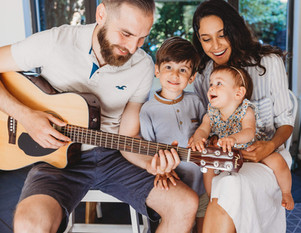 In-home family session in St. Albans