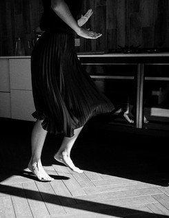 dancing in the kitchen black and white p