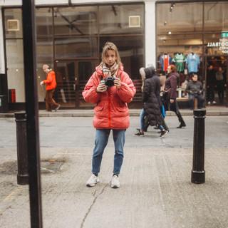 London Shoreditch street self portrait.j