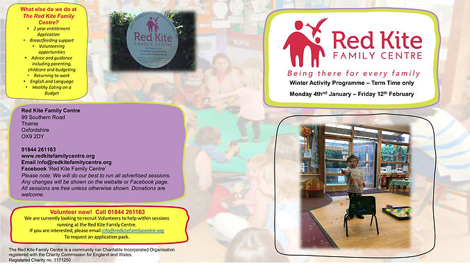 Red Kite Family Centre Thame Programme C