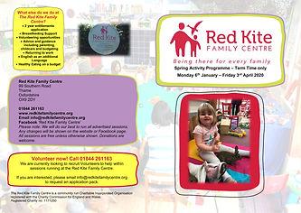Red Kite Family Centre Programme Spring