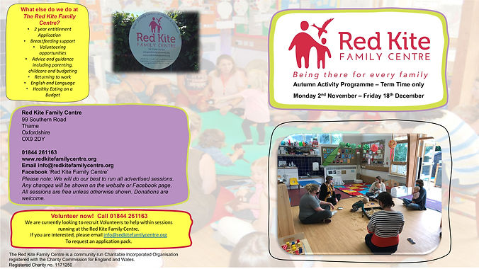 Red Kite Family Centre Thame Programme A