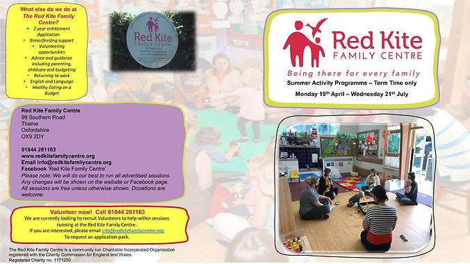 Red Kite Family Centre Thame Programe Su