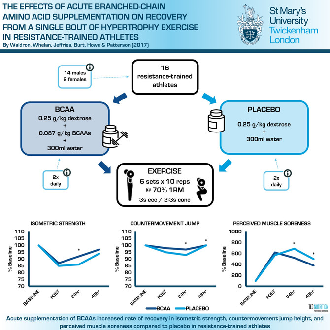 BCAAs Improve Recovery Following Hypertrophy Exercise