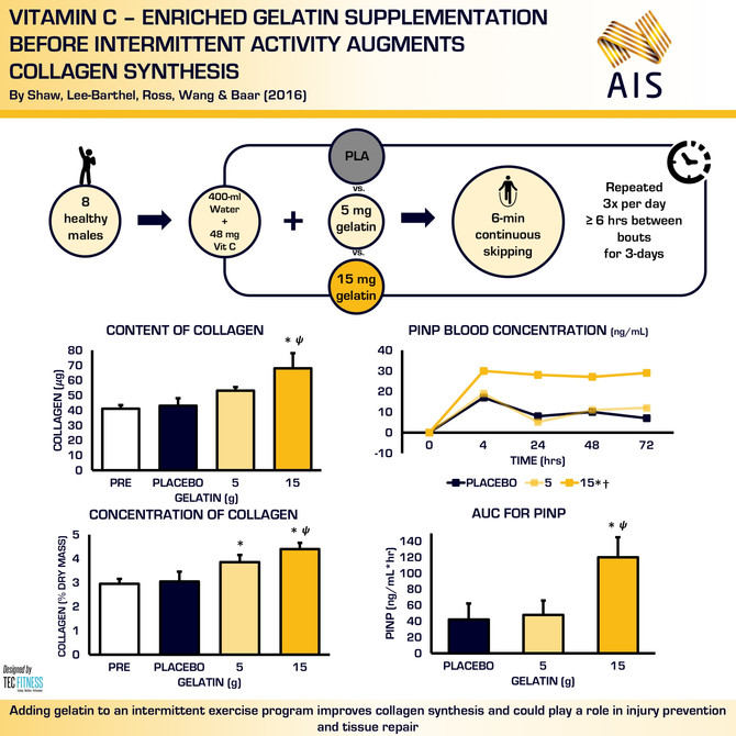 Gelatin Supplementation before Intermittent Exercise Increases Collagen Synthesis