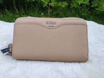 Guess porte feuille double beige