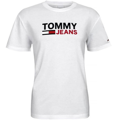 Tommy Jeans T-shirt grand logo blanc T.M