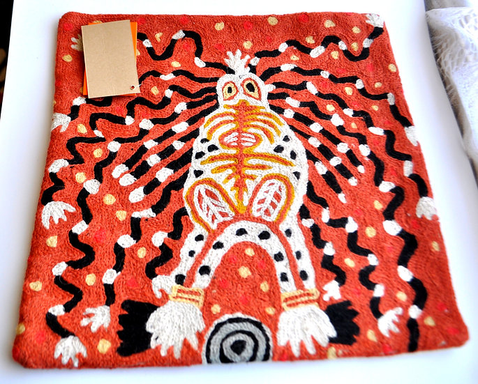 """Cushion Cover Wool 12in (30cm) - """"The Mulyawongk"""" by Cedric Varcoe"""