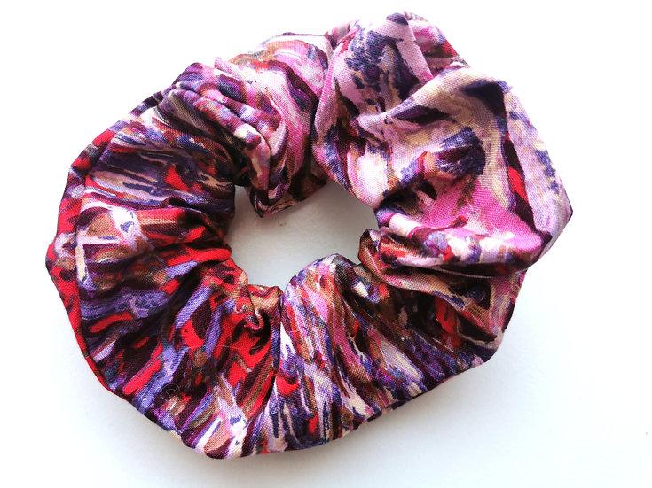 "Red & Purple Scrunchie - ""Bush Yam RED"" by Jeannie Pitjara"