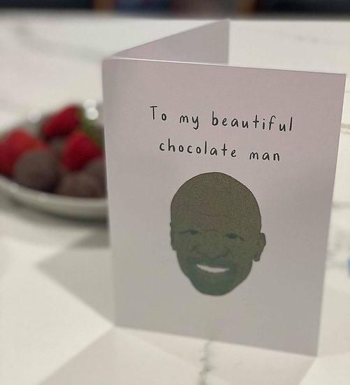 """Chocolate Man"" Card"
