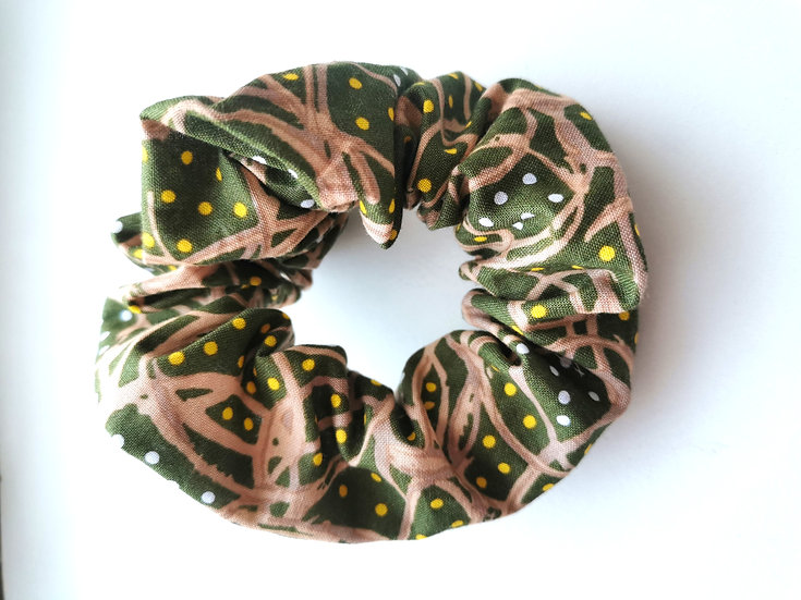 "Green Scrunchie - Rosemary Pitjara ""Roots and Seeds"""
