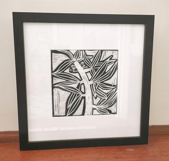 "Mounted Lino Print - ""Yilingbirradangwa Yinungkurra"" by Letoria Yulidjirri Jane"