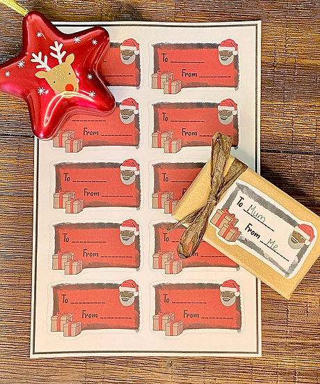 Sticker Gift Labels - Red (10 Stickers) by #Dream Tag