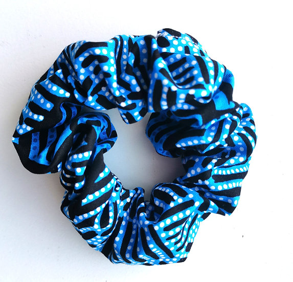 "Blue Scrunchie - ""Body Painting"" by June Bird"